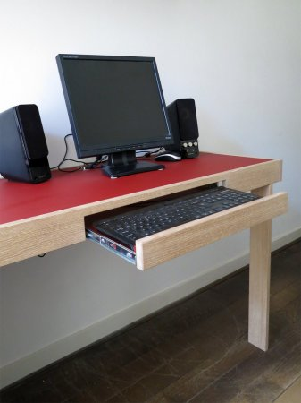 …met een lade voor het toetsenbord